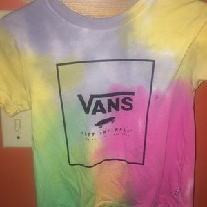 Vans off the wall tie dye